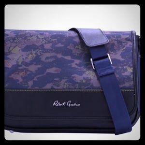 Robert Graham Messenger Bag Camo Trim Blue